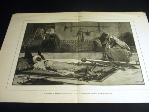 Benjamin Constant FUNERAL in MOROCCO Arabs Mourning 1890 Large Folio Print