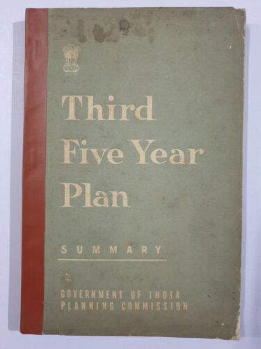 Government Of India :  Third Five Year Plan, Summary. 215p. Planning Comission.