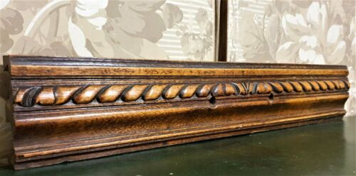 Godron groove wood carving pediment antique french archiectural salvage
