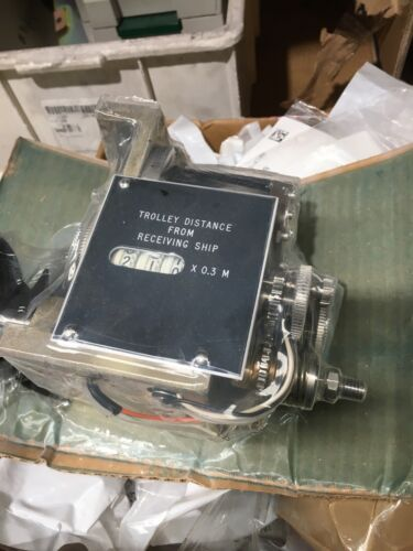 Marine mining gauge Trolley distance from receiving ship