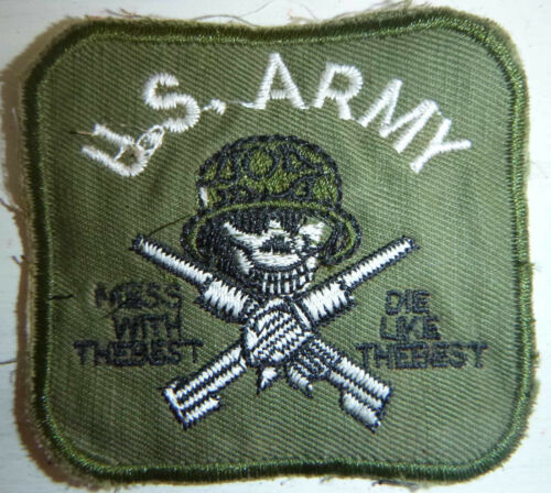 USA - Patch - MESS with the BEST - DIE LIKE the REST - ARMY - Vietnam War - 2905Patches - 104015