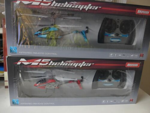 Lot of 2 Skytech M5 Helicopters 3.5 channel w GYRO Infrared remote control