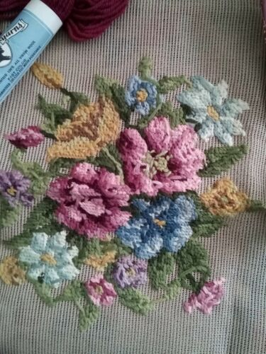 Royal society needlepoint tapestry unfinished flowers chair cover With Yarn