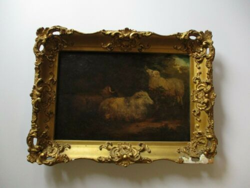 ANTIQUE PAINTING LANDSCAPE NATURE MYSTERY  18TH TO 19TH CENTURY OLD  MASTERFUL