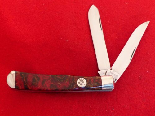 """Yellowhorse Queen USA mint 4-1/8"""" closed custom trapper knife"""