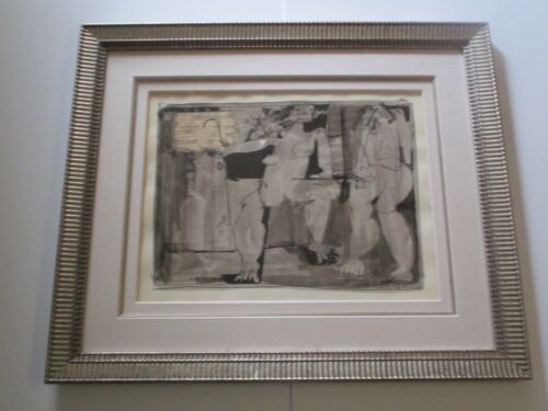 Leo Meiersdorff PAINTING 1960'S NUDE ABSTRACT EXPRESSIONISM LISTED FEMALE MODEL