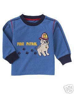 Gymboree New Fire Patrol Tee 12-18 Months NWT