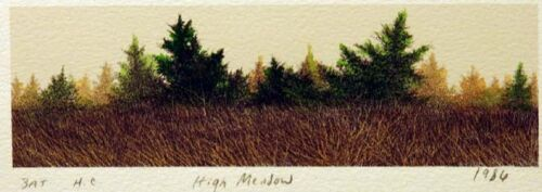 Frank Howell High Meadow '86 Hand Colored Original Lithograph, SUBMIT BEST OFFER