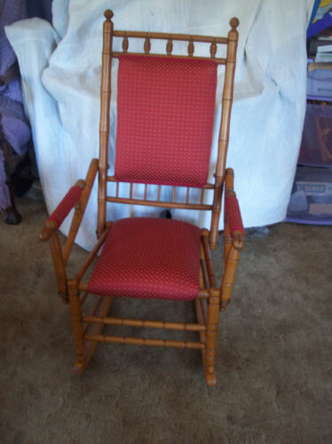 Maple Bamboo Style Rocker / Rocking Chair  (R136)