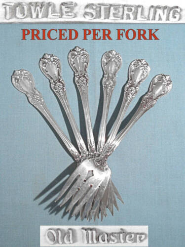 TOWLE STERLING SALAD FORK(S) ~ OLD MASTER ~ NO MONO