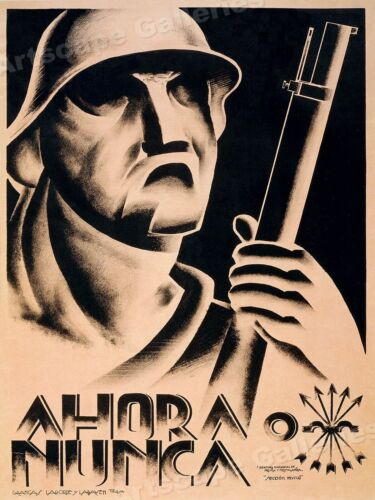 Now or Never - 1930s Spanish Civil War Poster - 24x32Art Posters - 28009