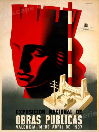 National Exposition of Public Work 1930s Spanish Civil War Print - 24x32Art Posters - 28009