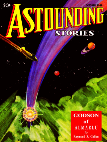 Pulp Cover Poster - Astounding Stories Vol 18, No 2, Oct (1936) Poster 18x24