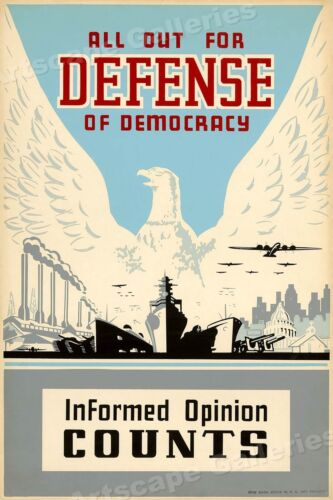 """""""Informed Opinion Counts"""" Vintage Style 1938 WPA Art Project Poster - 20x30Art Posters - 28009"""