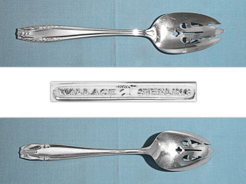 WALLACE STERLING PIERCED SERVING SPOON ~ STRADIVARI ~ NO MONO