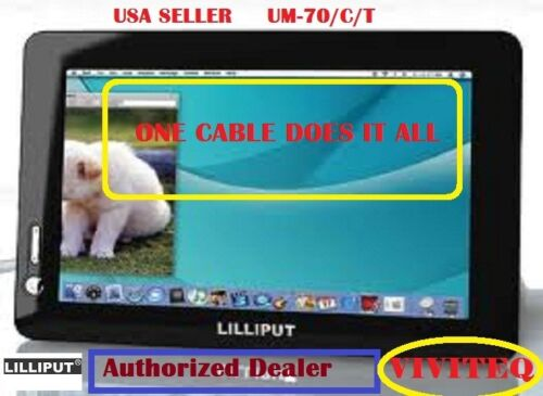 """LILLIPUT 7"""" UM-70/C/T MINI XVGA USB TOUCH SCREEN MONITOR-ONE CABLE DOES IT ALL"""