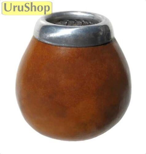 M57 NATURAL MATE/GOURD/CUP W. METAL RIM FOR YERBA MATE