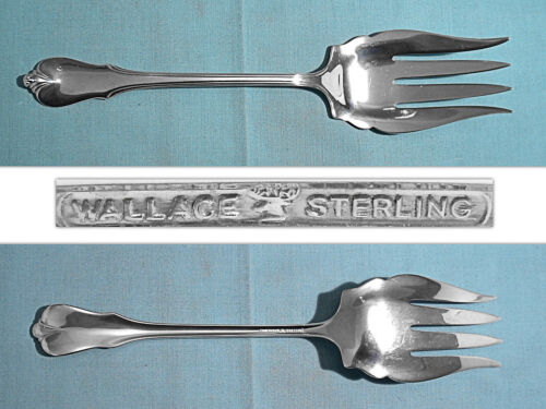 WALLACE STERLING SALAD SERVING FORK ~ GRAND COLONIAL ~ NO MONO