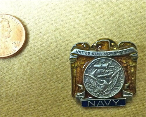 Large Military Enameled Navy Pin          Other Militaria - 135