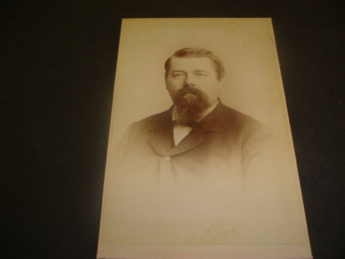 Antique Cabinet Photograph,Portrait of Man,Irving Photo,Second St,Troy ,NY,S1395