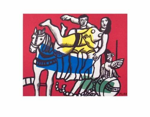 FERNAND LEGER - Le Cirque 1953 Lithograph Print Poster