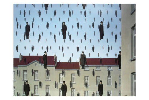 Golconde, 1953 by Rene Magritte Art Print Offset Lithograph Poster 27.5x39.5