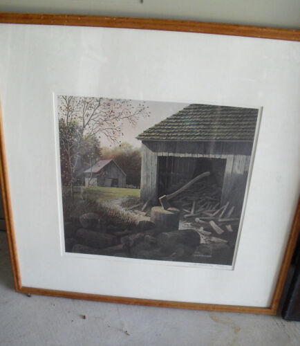Original Signed and Numbered Jim Harrison Print - Wood Pile LOOK