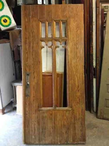 Heavy Oak Entry Door, Gothic
