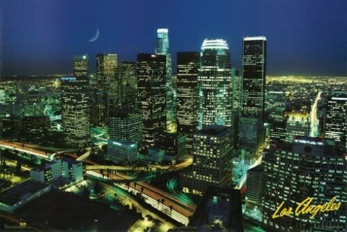 LOS ANGELES POSTER Downtown Skyline RARE HOT NEW 24x36