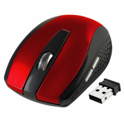2.4GHz Wireless Cordless Optical Mouse Mice USB Receiver for PC Laptop Red