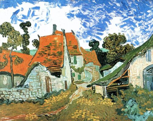 Houses in Auvers by Vincent Van Gogh Giclee Print Reproduction on Canvas