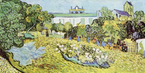 The garden of the Daubignys by Vincent Van Gogh Giclee Print Repro on Canvas