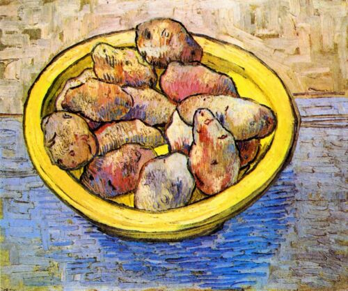 Still Life with Potatoes by Vincent Van Gogh Giclee Print Repro on Canvas