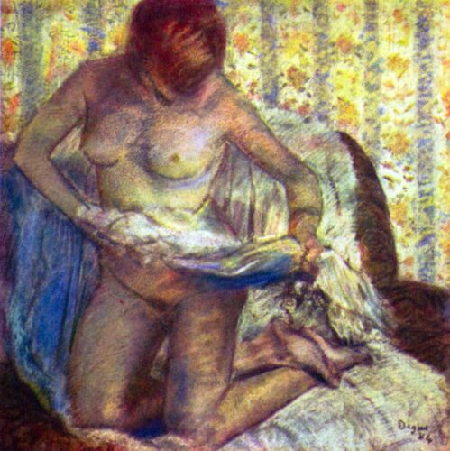 Nude Woman by Edgar Degas Giclee Fine Art Print Reproduction on Canvas