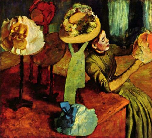 The fashion shop by Edgar Degas Giclee Fine Art Print Reproduction on Canvas