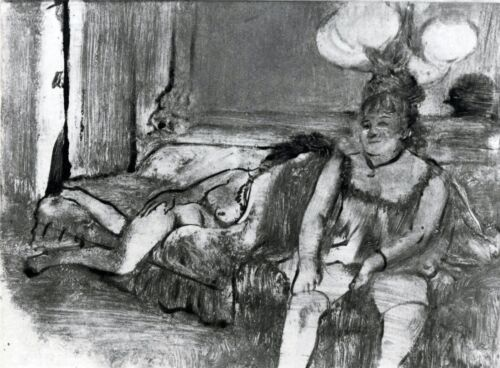 Taking a rest by Edgar Degas Giclee Fine Art Print Reproduction on Canvas