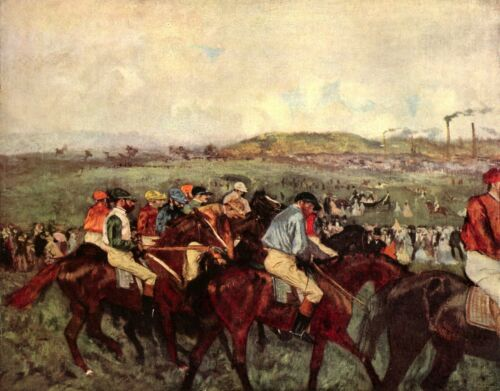 Men's riders before the start by Edgar Degas Giclee Fine Art Repro on Canvas