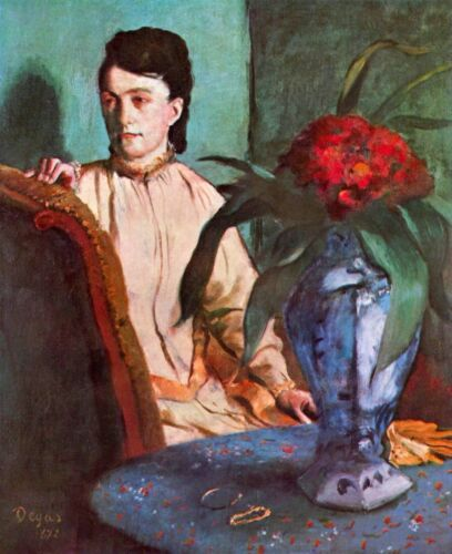 Seated woman by Edgar Degas Giclee Fine Art Print Reproduction on Canvas