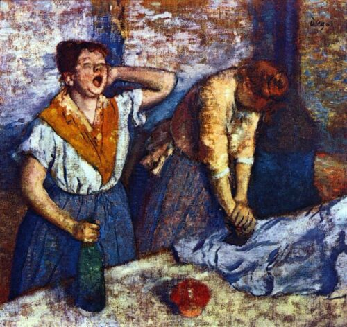 Two cleaning women by Edgar Degas Giclee Fine Art Print Reproduction on Canvas