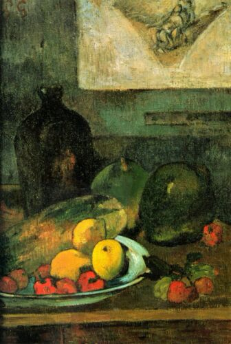 Still Life in Front of a Stich by Paul Gauguin Giclee Fine ArtRepro on Canvas