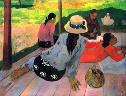 Afternoon Quiet Hour by Paul Gauguin Giclee Fine ArtPrint Repro on Canvas