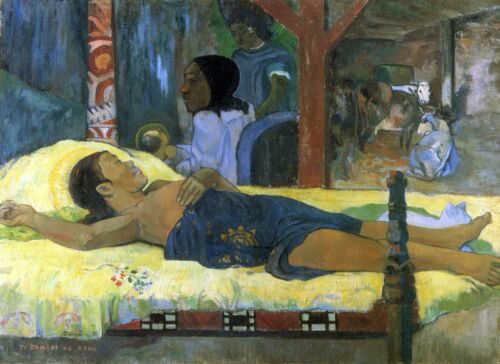 Birth of Christ Son of God Tetemar by Paul Gauguin Giclee Repro on Canvas