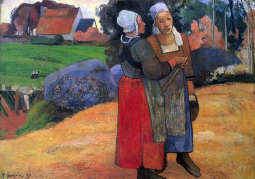 Breton Famers by Paul Gauguin Giclee Fine ArtPrint Reproduction on Canvas