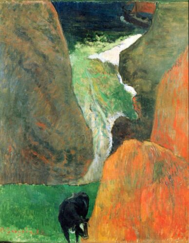 Hover Above the Abyss by Paul Gauguin Giclee Fine ArtPrint Repro on Canvas