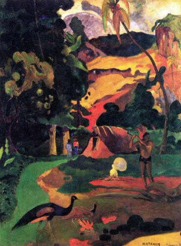 Landscape With Peacocks by Paul Gauguin Giclee Fine ArtRepro on Canvas