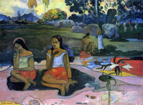 Nave Nave Moe by Paul Gauguin Giclee Fine ArtPrint Reproduction on Canvas