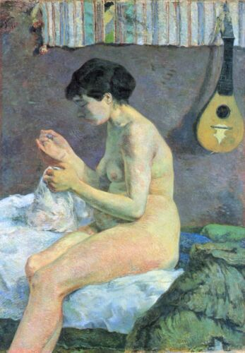 Study of a Nude by Paul Gauguin Giclee Fine ArtPrint Reproduction on Canvas
