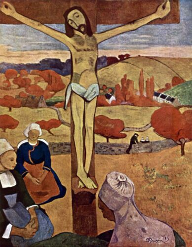 Yellow Christ by Paul Gauguin Giclee Fine ArtPrint Reproduction on Canvas