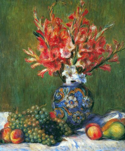Flowers and Fruit by Pierre-Auguste Renoir Giclee Fine ArtPrint Repro on Canvas