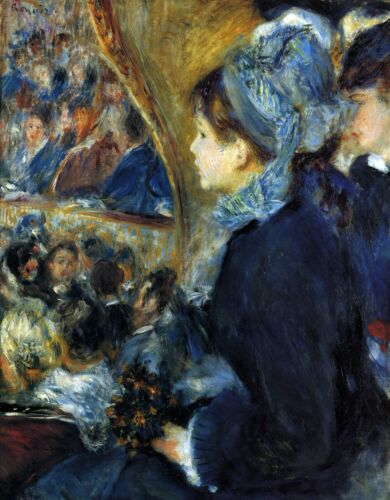 At the theatre by Pierre-Auguste Renoir Giclee Fine ArtPrint Repro on Canvas